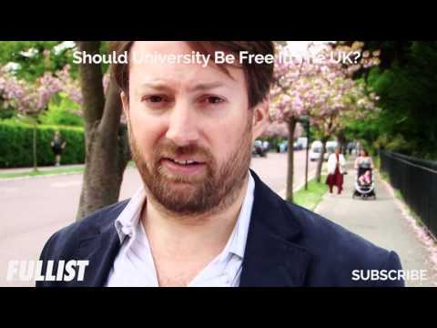 David Mitchell Gets Serious About University Fees, Should They Be Free In The UK?