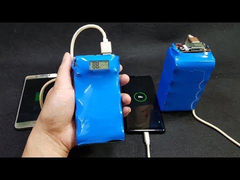 V2 - Build a 20000 vs 40000mAh Power Bank from 26650 Battery
