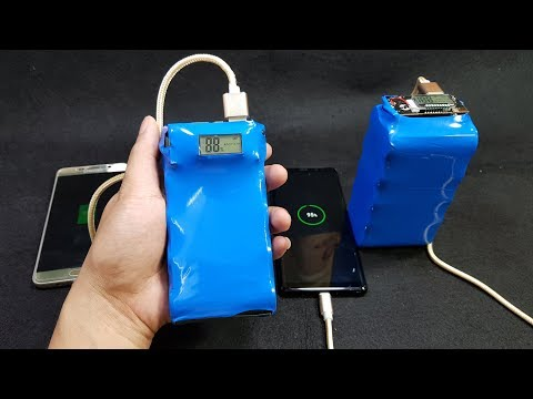 V2  Build a 20000 vs 40000mAh Power Bank from 26650 Battery