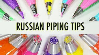 RUSSIAN PIPING TIPS - How To Use Russian Piping Tips - Satisfying Compilation