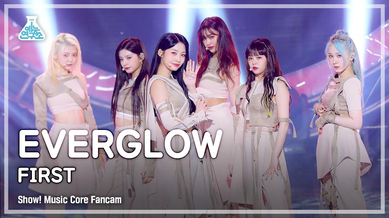 [예능연구소 4K] 에버글로우 직캠 'FIRST' (EVERGLOW FanCam) @Show!MusicCore 210612