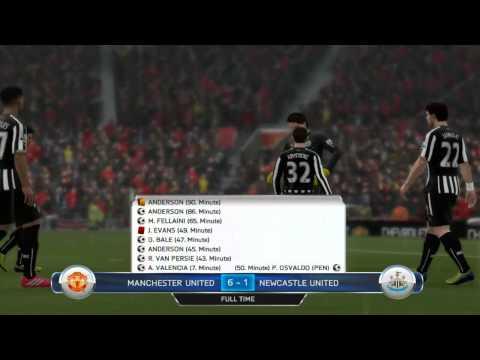 Manchester United 6:1 Newcastle United F.C.