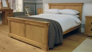 Farmhouse Country Oak Bed