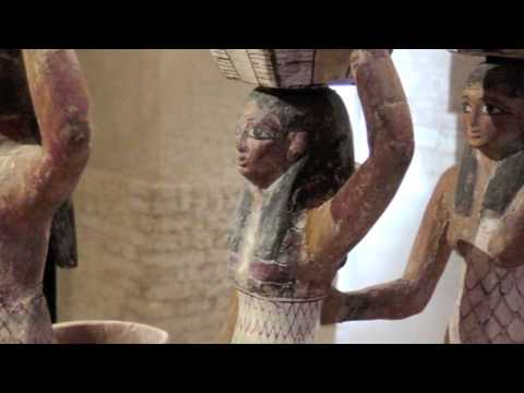 Egyptian archeology in Neues Museum Berlin