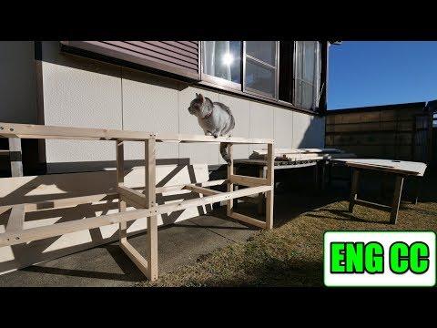 DIYで猫部屋のクローゼットに収納棚を制作!【Eng CC】