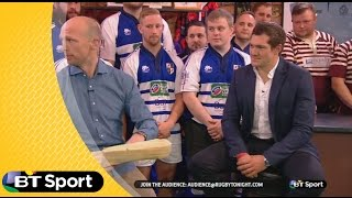 Alex Goode gets stitched up by Matt Dawson! | Rugby Tonight