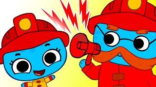 Песенка про Пожарных Детские песни Kit and Kate и Песни для детей