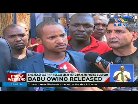Embakasi East MP Babu Owino released after 3 days in police custody