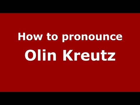 How to pronounce Olin Kreutz (American English/US)  - PronounceNames.com