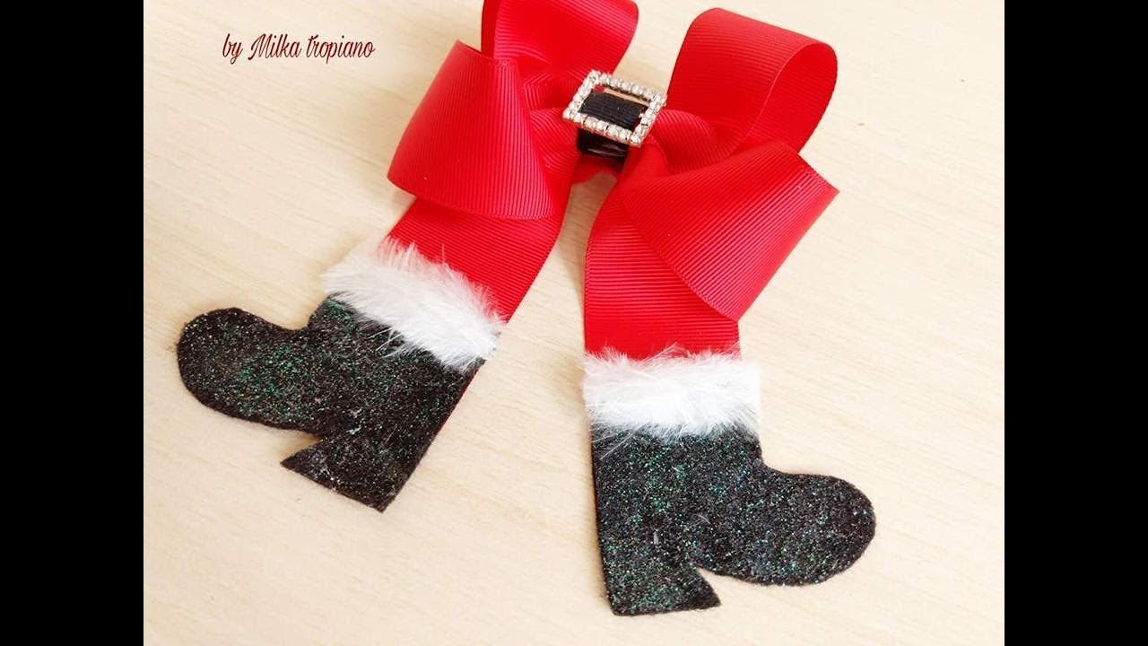 Laço Natalino Botas De Papai Noel