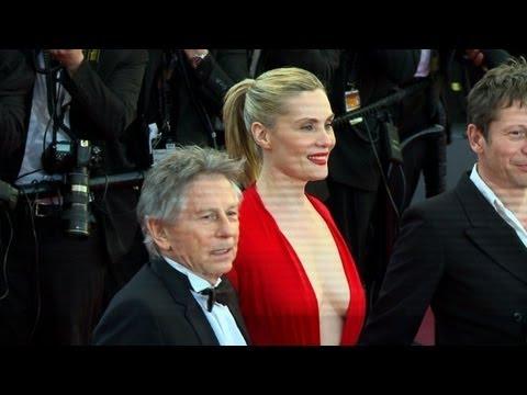 """Roman Polanski sur les marches pour """"La Vénus à la fourrure"""""""
