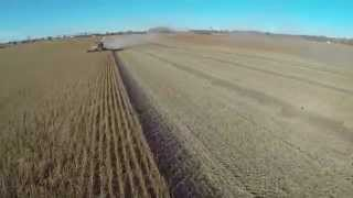 Farming - Harvesting Seed Corn, Beans, and Corn - John Deere Combine S670