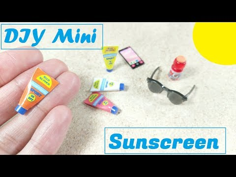 DIY Miniature Sunscreen Lotion