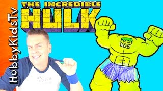 Speed Draw Incredible Hulk Superhero w/ HobbyDad! Talent by HobbyKidsTV