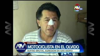 Motociclista agredido por serenazgo de San Isidro no recibe apoyo del alcalde