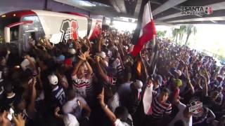 TV Coral - chegada da delegação no aeroporto - Botafogo x Santa Cruz - Série B 2015