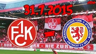 1. FC Kaiserslautern 0:0 Eintracht Braunschweig - 31.7.2015 - Leider keine Tore...