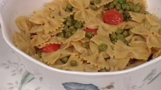 Italian Pasta With Indian Spicy Peas