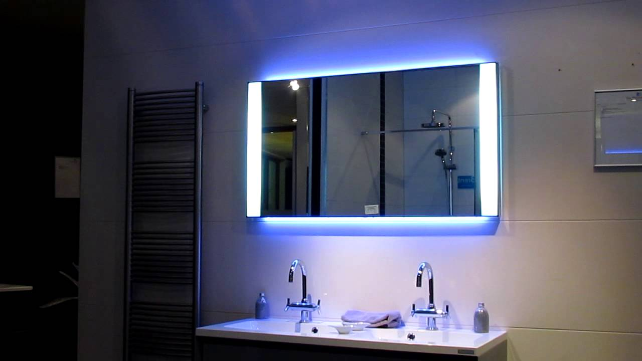 Badkamermeubel Detremmerie met LED verlichting - YouTube