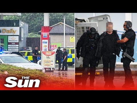 'Knifeman' arrested in Bristol after stabbing petrol station customer in 'hostage siege'