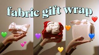 withwendy: fabric gift wrap basics