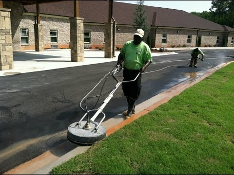 Pressure Washing Curb With Gp Surface Cleaner Youtube