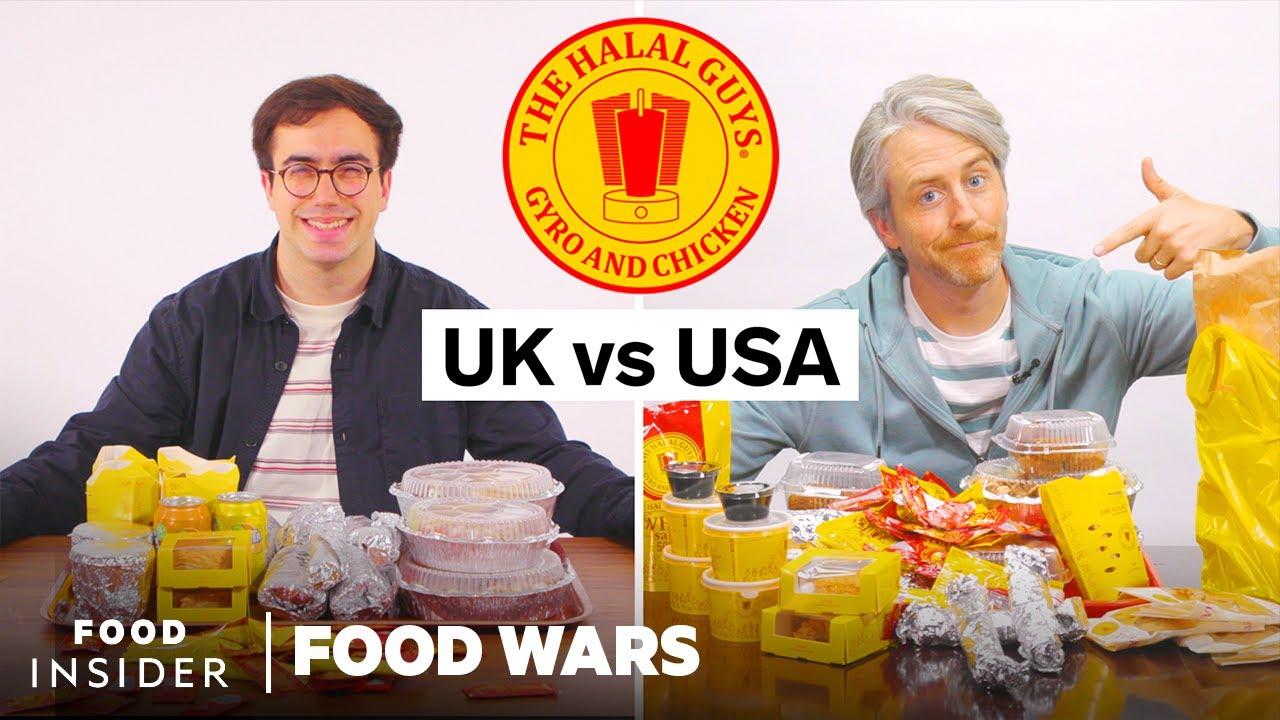 US vs UK Halal Guys | Food Wars