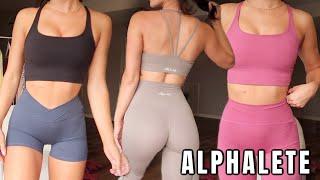 ALPHALETE TRY ON HAUL | Leggings, Bras, & New Fav Sets