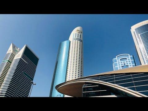 Dubai World Trade Center (DWTC)  Exhibition Area & Skyscrapers