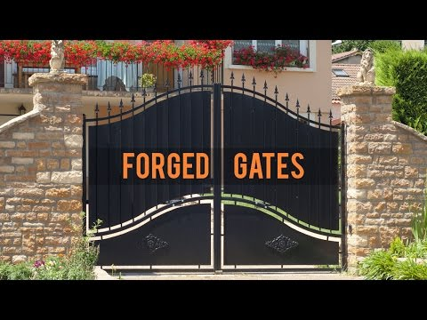 Stylish Wrought Iron Entryway to a Home | Wrought Iron Gates