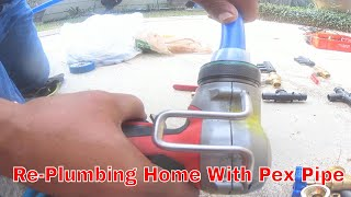 Re-Plumbing Home With Pex Pipe 1 Of 9