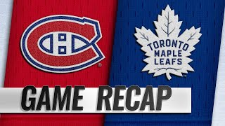 Leafs rally for six straight goals to down Habs, 6-3