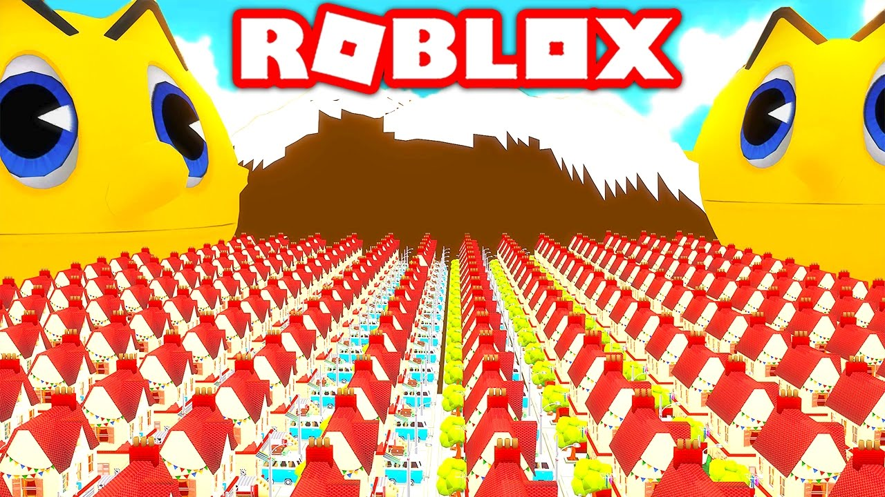 SURVIVE THE GIANT KILLER PACMAN IN ROBLOX! (Roblox Pacman ...