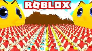 SURVIVE THE GIANT KILLER PACMAN IN ROBLOX! (Roblox Pacman Simulator)