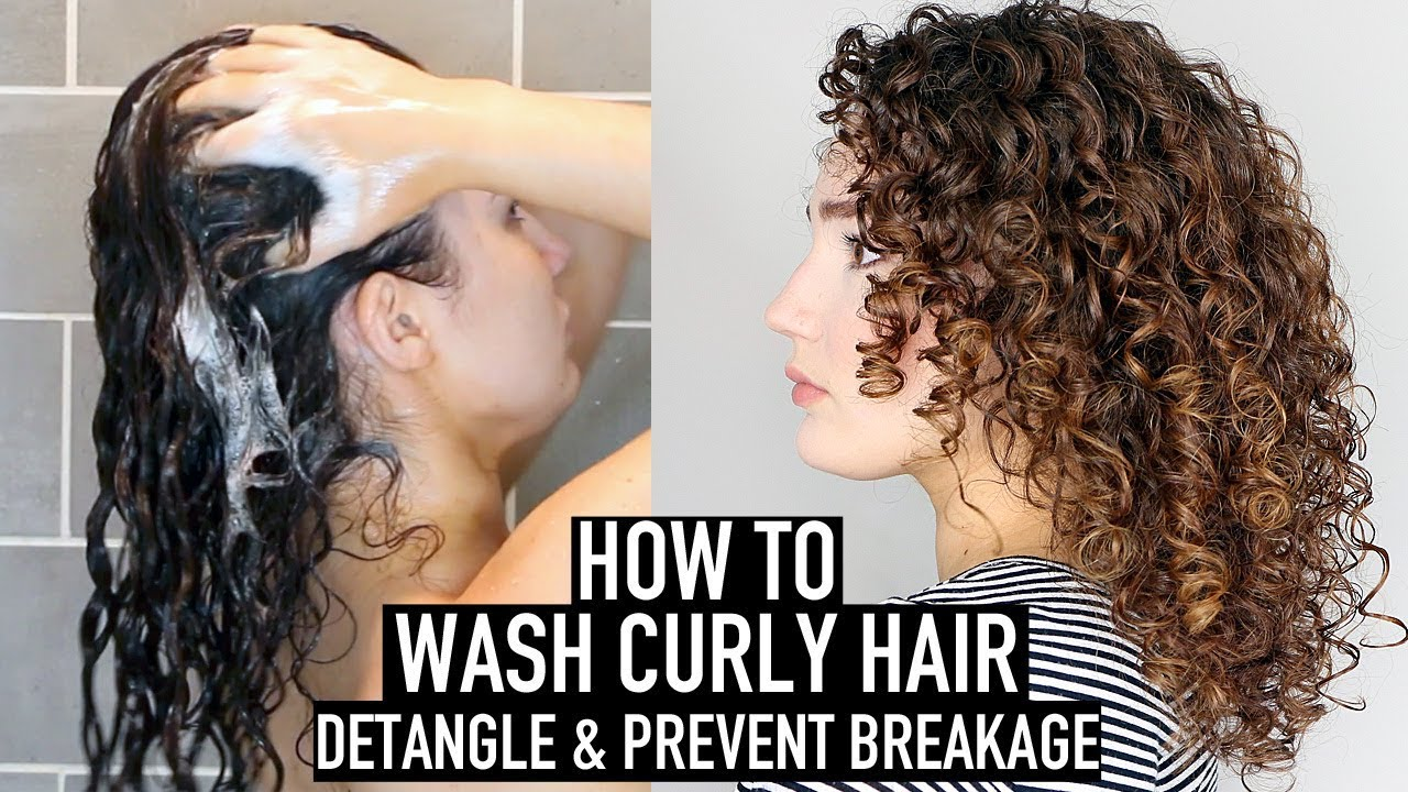 How To Wash Curly Hair Curly Haircare For Beginners Youtube