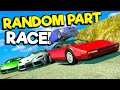 AWFUL Random Part Mod Mountain Race with Super Cars! (BeamNG Drive Chases & Crashes)