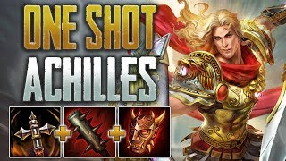 One Shot Achilles Build! SMITE Conquest - Achilles Jungle