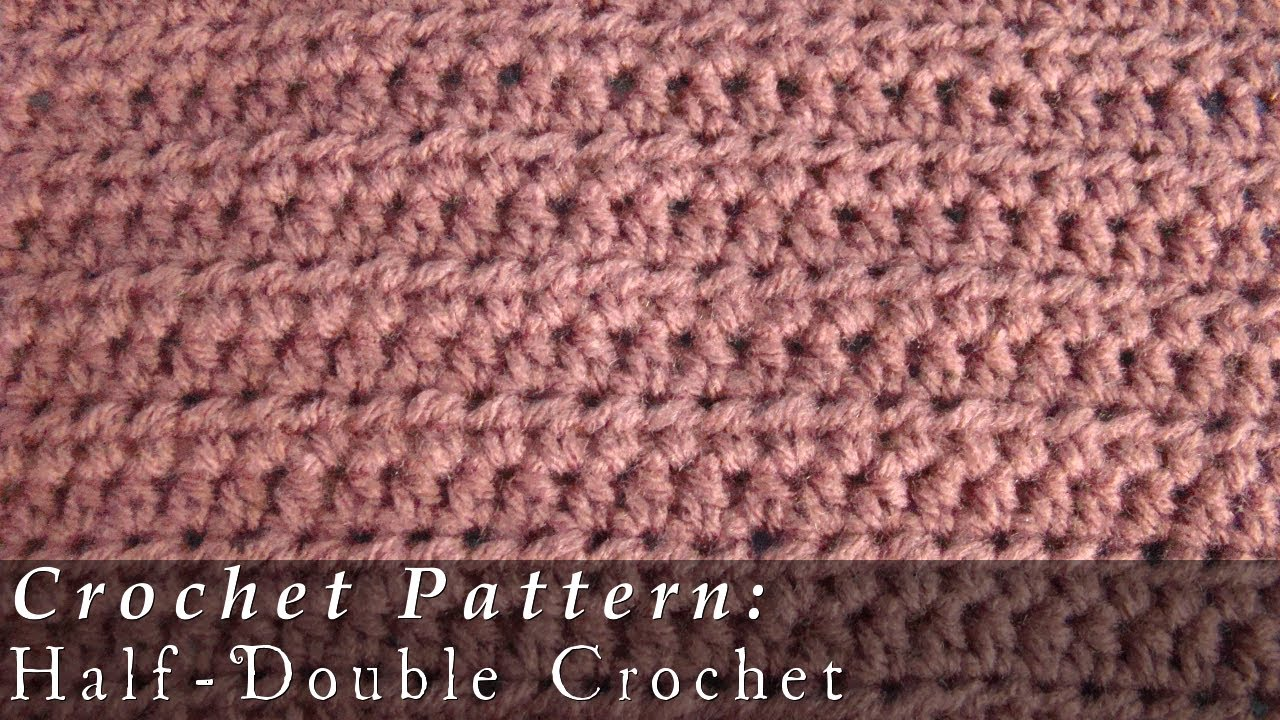 Half Double Crochet Pattern Crochet Challenge 2/63 - YouTube