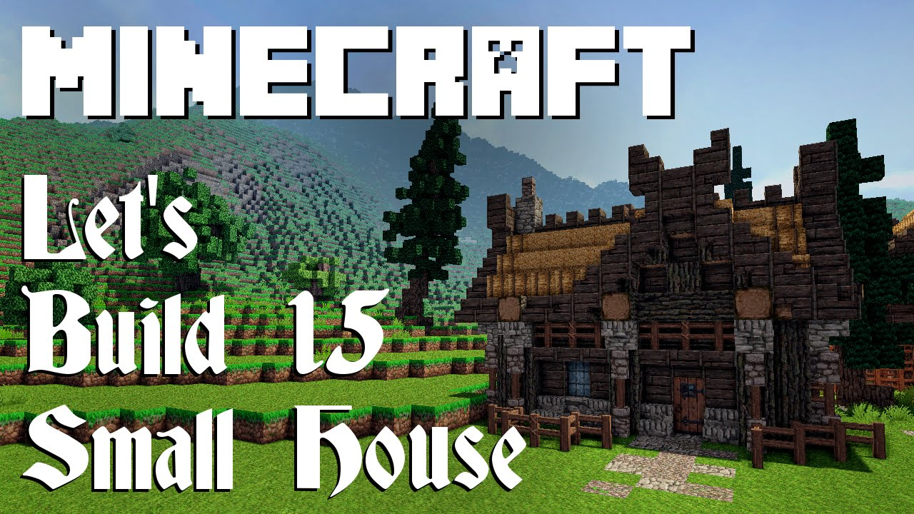 Minecraft Lets Build Small Viking House YouTube - Minecraft wikinger hauser