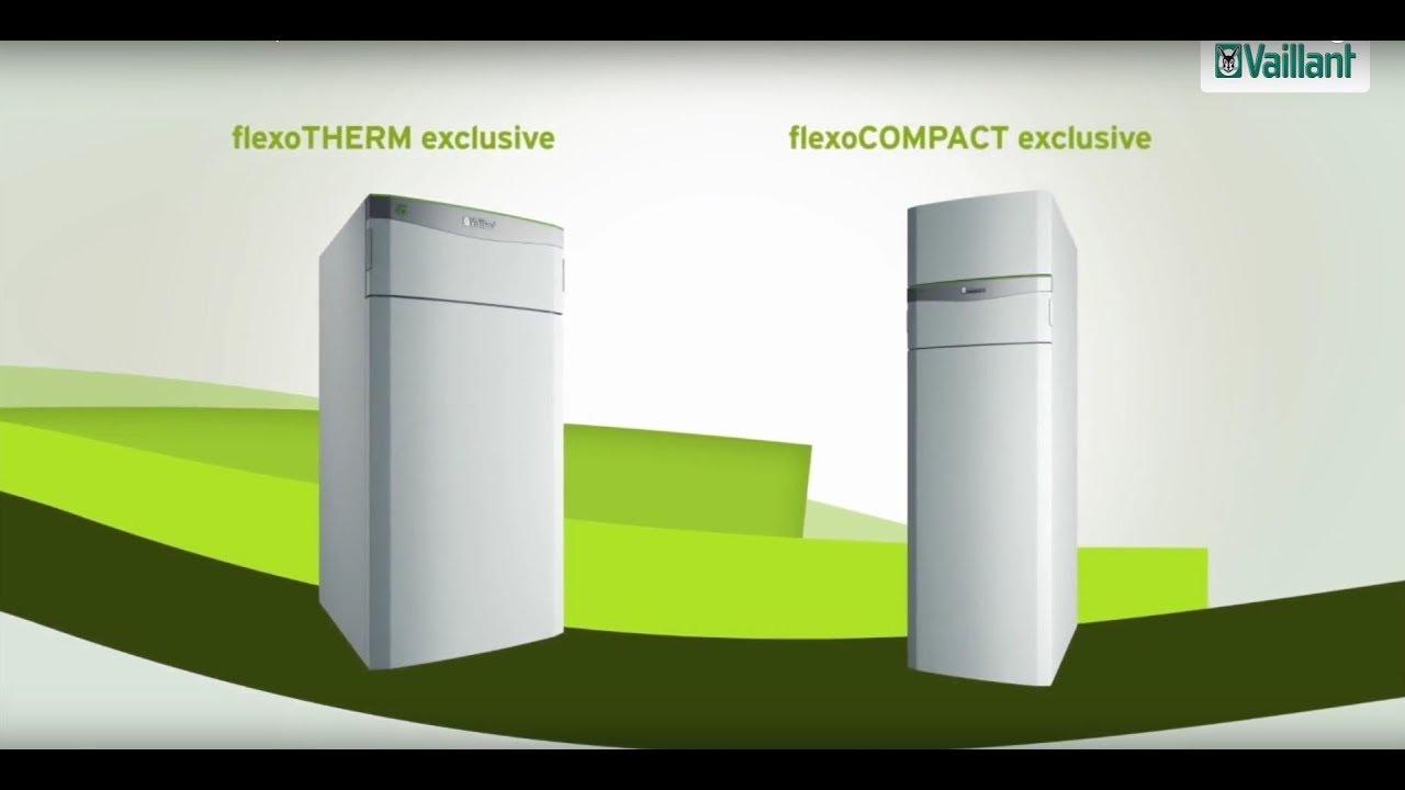 sole wasser w rmepumpe flexotherm exclusive und flexocpmpact exclusive von vaillant youtube. Black Bedroom Furniture Sets. Home Design Ideas