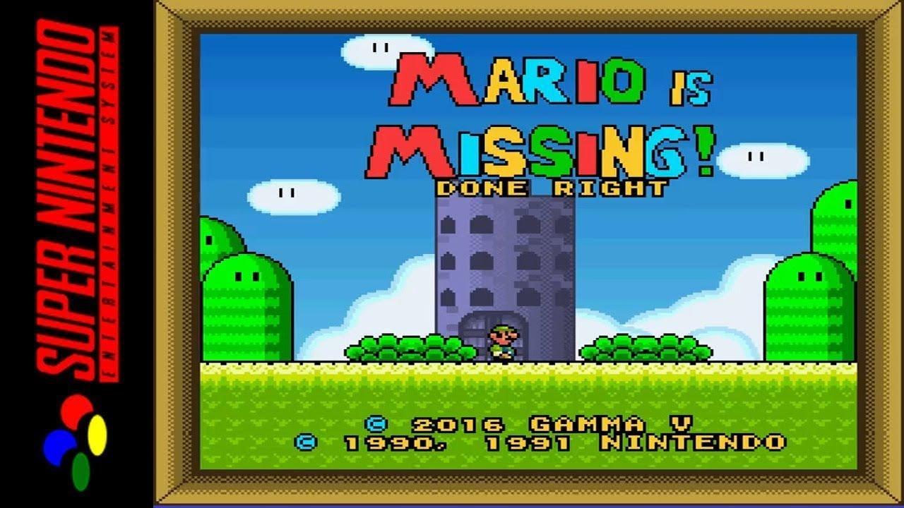 [LONGPLAY/HACK] SNES - Mario is Missing - Done Right (HD, 60FPS)