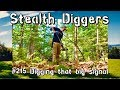 Digging that big signal #215 Metal detecting relic hunting dirt fishing NH cellar holes garrett