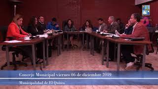 Concejo Municipal 06 de diciembre 2019 [parte 2]