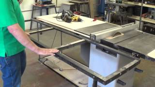 Building A Table Saw Outfeed Table