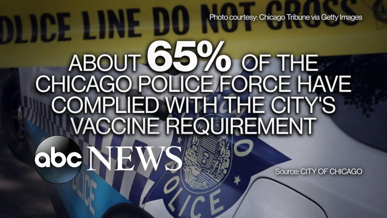 Download Chicago's mayor and police officers face off over vaccine mandates