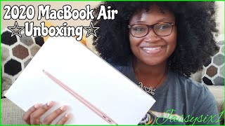 2020 MACBOOK AIR UNBOXING AND SETUP📦/MY NEW 2020 MACBOOK AIR💻/SAHM MOM OF ONE🤱🏽