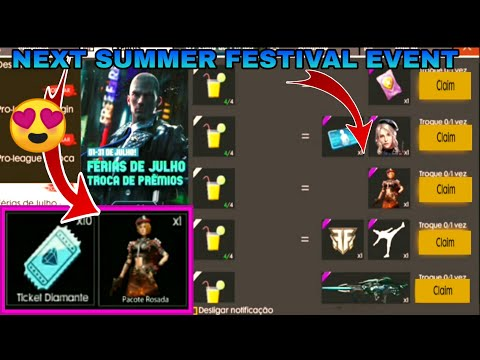 Free fire summer festival event // upcoming new bundle and panda Royal, pro League 2 event