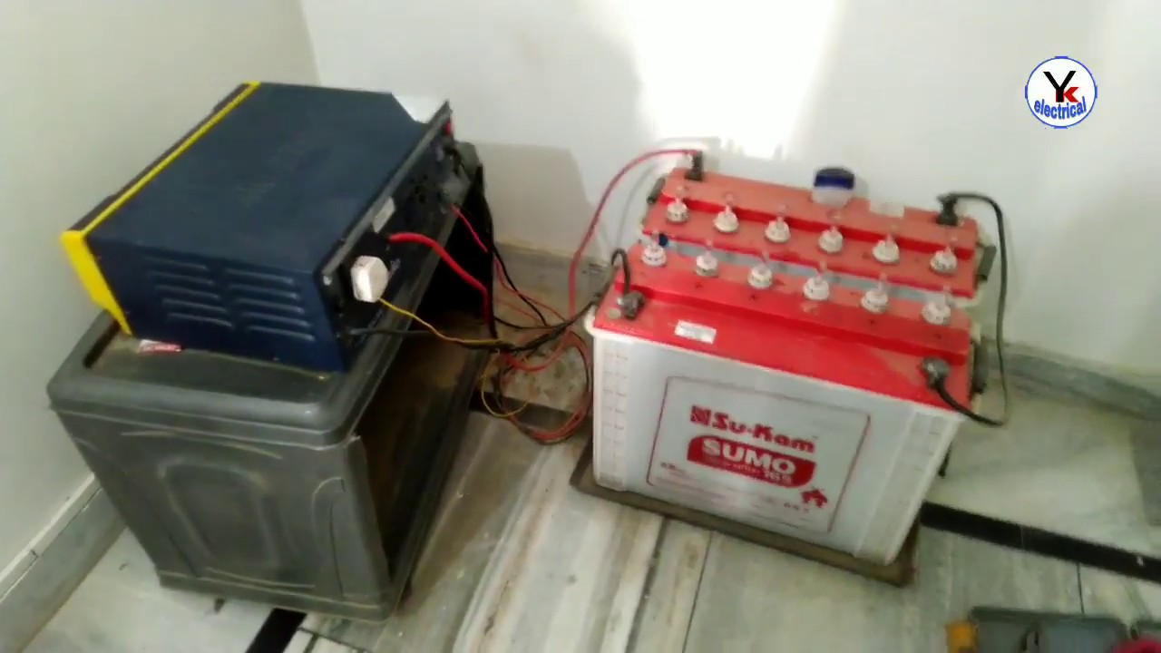 inverter wiring how to check solar panel voltage and current in hindi yk electrical [ 1280 x 720 Pixel ]