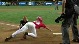 LITTLE LEAGUE PLAYER AVOIDS TAG!! YOU MUST SEE TO BELIEVE!