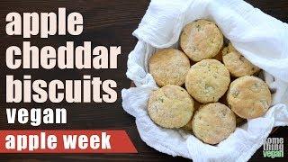 apple cheddar biscuits Something Vegan Apple Week